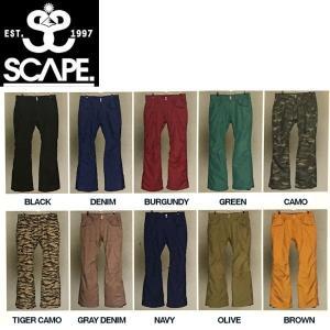 エスケープ SCAPE Fazz Pants メンズスノーパンツ 男性用スノーボードウェア ウエア ...