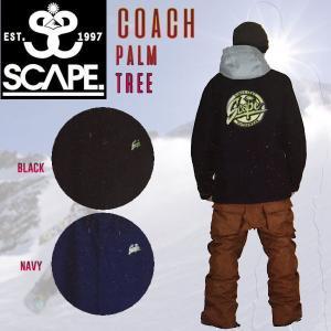 特典あり SCAPE エスケープ COACH JACKET Palm Tree メンズ スノージャケット コーチジャケット スノーウェア スノーボードウエア スノボ|54tide