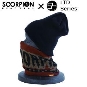 スコーピオン SCORPION×54TIDEヘッドウェア ウエア 54限定 N-LOGO LTD Series メンズ レディース ネックウォーマー ロゴ柄|54tide
