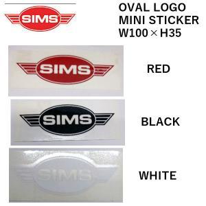 シムス SIMS SNOWBOARDS OVAL LOGO MINI STICKER ステッカー ス...