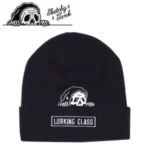 スケッチータンク SKETCHY TANK メンズ ビーニー ニット帽 帽子 スケートボード スケボー LURKING CLASS LC STITCH BEANIE|54tide