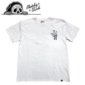 スケッチータンク SKETCHY TANK メンズ 半袖Tシャツ ティーシャツ トップス Mサイズ WHITE PLAYER TEE|54tide