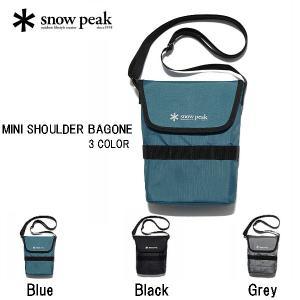 スノーピーク SNOW PEAK 2020秋冬 MINI SHOULDER BAGONE ミニショルダーバッグ アウトドア キャンプ用品 縦23cmX横17cmX奥行8cm UG-737【正規品】|54tide