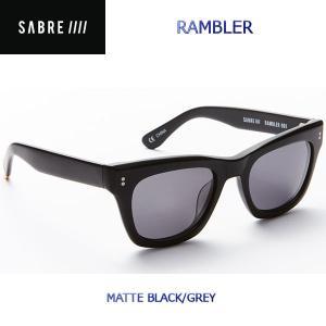 ステッカープレゼント SABRE セイバー RAMBLER ユニセックスサングラス メンズ レディース MATTE BLACK/GREY 54tide