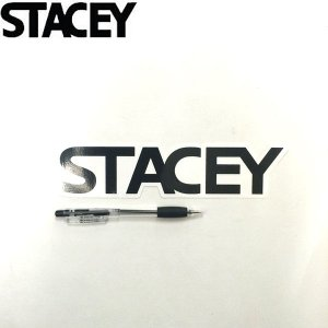 STACEY ステイシーサーフボード ステッカーLogo-Type 縦5,3cm × 横22,2cm サーフィン スポーツ|54tide
