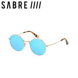 ステッカープレゼント セイバー SABRE JEREMY 2 ユニセックス サングラス メンズ レディース GOLD METAL/BLUE MIRROR 54tide