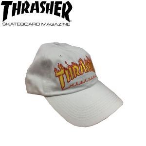 スラッシャー THRASHER メンズキャップ ストラップバック 帽子 スケートボード スケボー WHITE FLAME OLD TIMER HAT 54tide