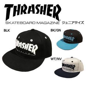 スラッシャー THRASHER ジュニア キッズ キャップ スナップバック 帽子 子供用 スケートボード スケボー 3カラー 54tide
