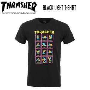 スラッシャー THRASHER メンズ 半袖Tシャツ ティーシャツ TEE トップス BLACK LIGHT T-SHIRT 54tide