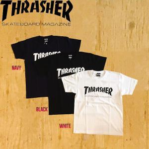 THRASHER スラッシャー MAG LOGO メンズ レディース 半袖Tシャツ ロゴ TEE ティーシャツ 54tide