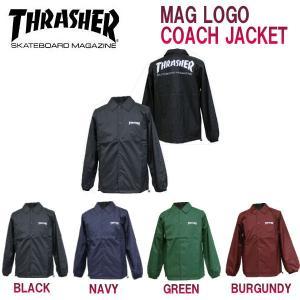 THRASHER  スラッシャー MAG COACH JACKET メンズ コーチジャケット ロゴ プリント ウインドブレーカー 54tide
