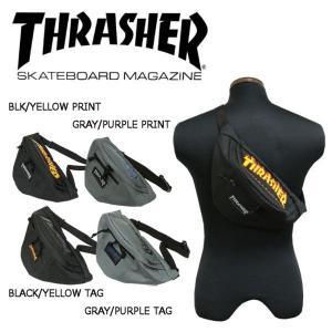 スラッシャー THRASHER ボディーバック バック ウエストバック ヒップバック バッグ スケボー 4カラー FLAME LOGO 54tide