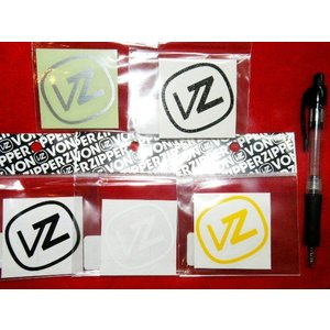 VONZIPPER 小(5.8×5.8cm)NEWVZ アイコン中抜きカッティングシートステッカー ブラック ラメブラック シルバー ホワイト イエロー|54tide