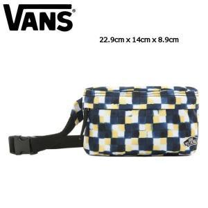 バンズ VANS メンズ レディース ボディバック ウエストバック ウエストポーチ バッグ かばん 14cmx22.9cmx8.9cm YOLK STENCIL CHECK BURMA FANNY PACK|54tide