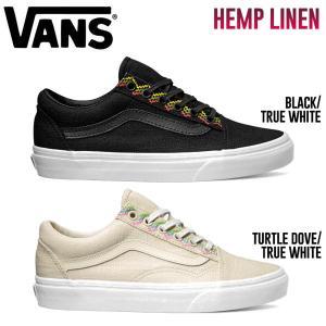 バンズ VANS メンズシューズ 靴 スニーカー HEMP LINEN OLD SKOOL 2カラー 23.5cm-28.0cm|54tide
