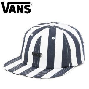 バンズ VANS メンズ 帽子 キャップ ストラップバック 6パネル スケートボード スケボー Dress Blues Stripe STRIPE UNSTRUCTURED HAT|54tide