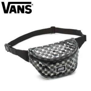 バンズ VANS メンズ レディース ボディバック ウエストバック ウエストポーチ バッグ かばん BLACK CHECKERBOARD CLEAR CUT FANNY BAG|54tide