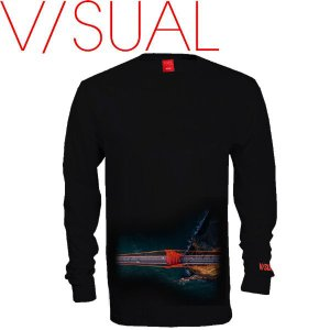 ヴィジュアル V/SUAL Pathfinder Long Sleeve メンズTシャツ TEE 長袖 S-XL Black|54tide
