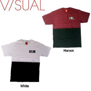 V/SUAL ヴィジュアル Civic Tee メンズTシャツ 半袖ティーシャツ VISUAL S-M 2カラー|54tide