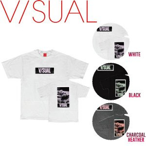 V/SUAL ヴィジュアル PHOTO COPY TEE メンズTシャツ 半袖 ティーシャツ バックプリント VISUAL S-L 3カラー|54tide