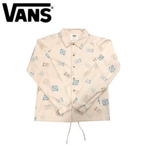 VANS バンズ Stamp All-Over Cotton Coach Jacket メンズコーチジャケット 長袖 ラグランスリーブ M-XL 2カラー 54tide