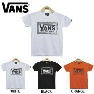 バンズ VANS キッズ ジュニア 子供用 半袖Tシャツ ティーシャツ TEE トップス Checker Box Logo Boys S/S T-Shirt|54tide