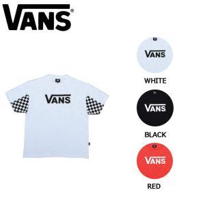 バンズ VANS メンズ 半袖Tシャツ ティーシャツ TEE トップス S・M・L・XL 3カラー Checker Sleeve T-Shirt|54tide