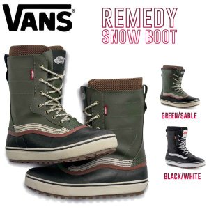 予約受付中 特典あり VANS バンズ REMEDY SNOW BOOTS スノーブーツ メンズ レディース 靴 UNISEX 23cm-31cm 2カラー|54tide