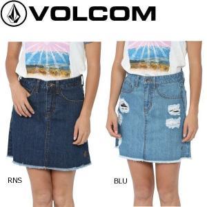 VOLCOM ボルコム VCM BOXY SKIRT レディース デニムスカート ミニスカート ボトムス正規品|54tide