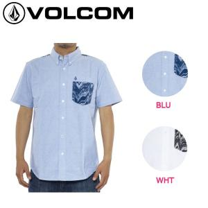 ボルコム VOLCOM メンズ半袖シャツ ショートスリーブシャツ ボタンダウンシャツ S-XL 2カラー 正規品 LO FI OX S/S 54tide