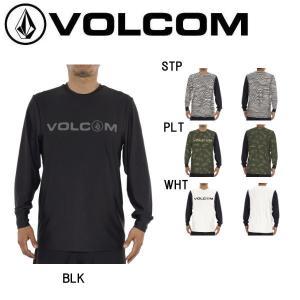 VOLCOM ボルコム BASIC LOGO 2 L/S SURF TEE メンズ 長袖 ラッシュガード サーフTシャツ トップス|54tide