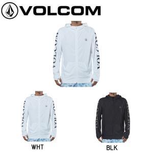 ボルコム VOLCOM メンズ ラッシュパーカー ジップアップパーカー トップス ラッシュガード サーフィン S・M・L・XL 2カラー 正規品 TRADEMARK SURF ZIP HOOD|54tide