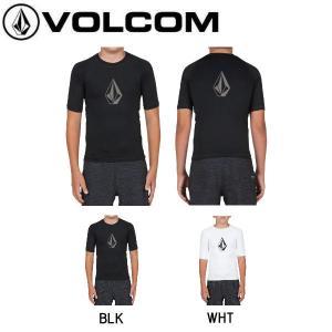ボルコム VOLCOM キッズ ジュニア ラッシュTシャツ ラッシュガード トップス サーフィン 海水浴 8-14歳 S・M・L・XL 2カラー 正規品 STONE SOLID S/S BY|54tide