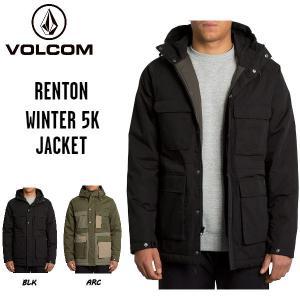 ボルコム VOLCOM RENTON WINTER 5K JACKET メンズ  ジャケット ジップアップ フードパーカー アウター M・L  2カラー【正規品】 54tide