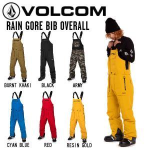 ボルコム VOLCOM 2020-2021 RAIN GTX BIB OVERALL ボードウェア ゴア ゴアテックス 防水 スノボ ボード メンズ パンツ ビブパン オーバーオール S・M・L・XL|54tide