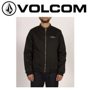 ボルコム VOLCOM Berkeley Bomber Jacket メンズ ジャケット ジップアップ  ジャンバー ブルゾン バックプリント S-XL BLK 正規品|54tide