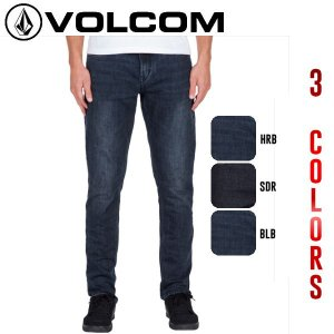 正規品 VOLCOM ボルコム SOLVER TAPERED メンズストレッチデニム 長ズボン ロングパンツ ボトムス 3カラー 28-36インチあす楽対応|54tide