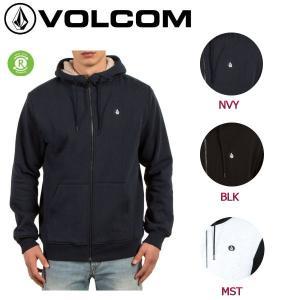 ボルコム VOLCOM メンズ ジップアップパーカー フード パーカー 長袖  裏起毛 ボアパーカー S-XL 3カラー SNGL STN LINED ZIP|54tide