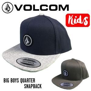 ボルコム VOLCOM BIG BOYS QUARTER SNAPBACK HAT キッズ ジュニア ユース 子供 キャップ 帽子 スナップバック スケートボード スノーボード 正規品 54tide