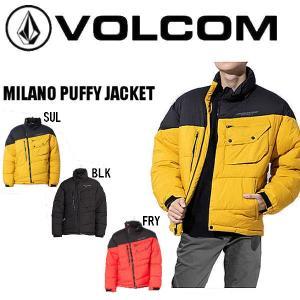 【VOLCOM】ボルコム 2020秋冬 JP MILANO PUFFY JACKET ダウンジャケット 撥水 中綿パフジャケット A1702001 S~XL 【正規品】|54tide