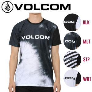 正規品 ボルコム VOLCOM BRAND LOGO SURF TEE メンズ半袖ラッシュTシャツ サーフTシャツ ラッシュガード S-XL 4カラー|54tide