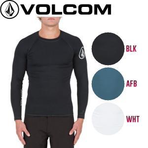 正規品 ボルコム VOLCOM LIDO SOLID L/S メンズ長袖ラッシュTシャツ ラッシュガード S-XL 3カラー|54tide