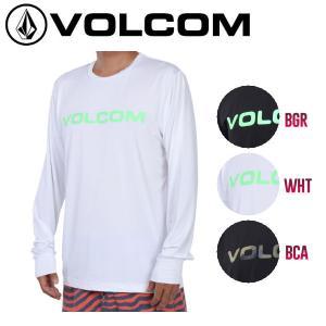 VOLCOM ボルコム BRAND LOGO LS SURF TEE II メンズ長袖ラッシュTシャツ サーフティーシャツ ラッシュガード 正規品|54tide