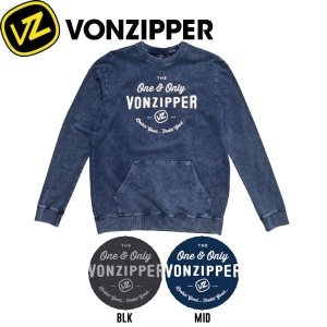 VONZIPPER ボンジッパー THE ONE CREW NECK メンズトレーナー 長袖 クルーネック 2カラー S-L|54tide