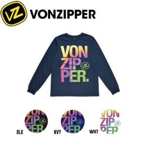 VONZIPPER ボンジッパー BOXED メンズロゴTシャツ 長袖ティーシャツ クルーネックTee 3カラー S-XL|54tide
