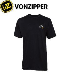 VONZIPPER ボンジッパー SUPPORT WILDLIFE メンズTシャツ 半袖ティーシャツ クルーネックTee BLK S-M|54tide