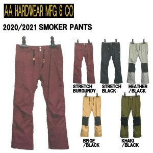 予約受付中  特典あり AA HARD WEAR ダブルエーハードウェア SMOKER PANTS メンズ スノーパンツ ボトムス スノーウェア スノーボード|54tide