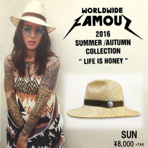 WORLD WIDE FAMOUS ワールドワイドフェイマス SUN ストローハット 帽子 麦わら帽子|54tide