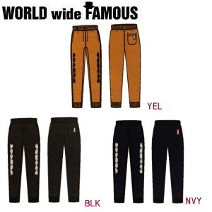ワールドワイドフェイマス WORLD WIDE FAMOUS メンズ レディース スウェットパンツ ボトムス XS-XL 3カラー SW PT|54tide