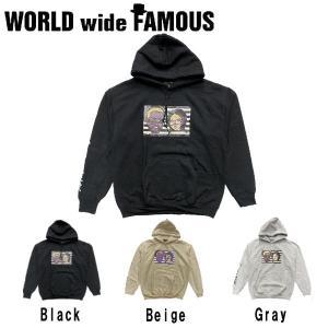 【WORLD WIDE FAMOUS】ワールドワイドフェイマス 2019秋冬 プルオーバーパーカー メンズ レディース トップス  パーカー M・L・XL・XXL  3カラー|54tide